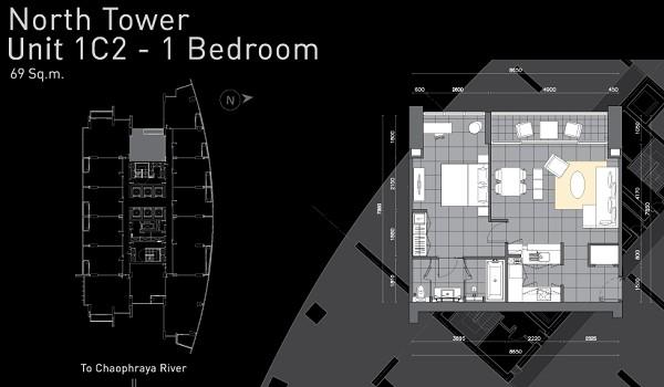 คอนโด The River ชั้น 31 ตึก B วิวเมือง