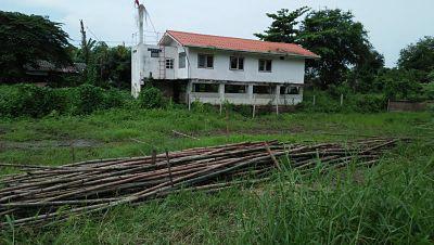ขายที่ดินเปล่าแปลงเล็กๆเหมาะปลูกบ้าน วิวแม่น้ำเจ้าพระยา ย่านชุมชน ใกล้วัดและโรงเรียน บ้านฉาง ปทุมธานี ติดถนนในซอย แหล่งชุมชน