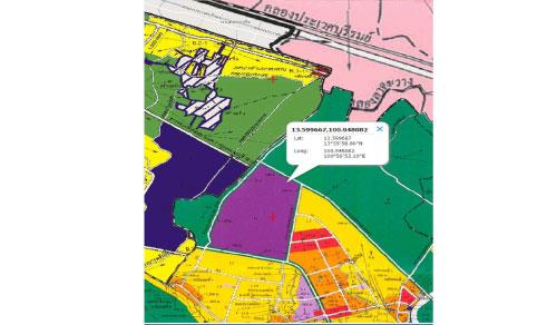 ที่ดินสร้างโรงงาน สีม่วง 115 ไร่ ติดถนนพิมพาวาส ย่านบางนา