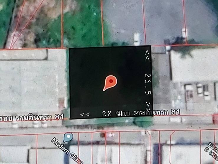 ขายที่ดินแปลงสวย ถมแล้ว 186 วา กว้าง 28 ลึก 26.5 เมตร ใกล้สถานีรถไฟฟ้าสีชมพู สถานีสินแพทย์ ถนนรามอินทรา 81 แขวง รามอินทรา เขตคันนายาว กรุงเทพมหานคร