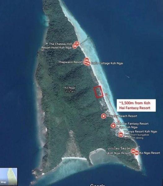 ที่ดินเกาะไหง จ.กระบี่ 38 ไร่ 260 ตร.วา ผืนงามมาก อยู่หน้าหาดพอดีเลย