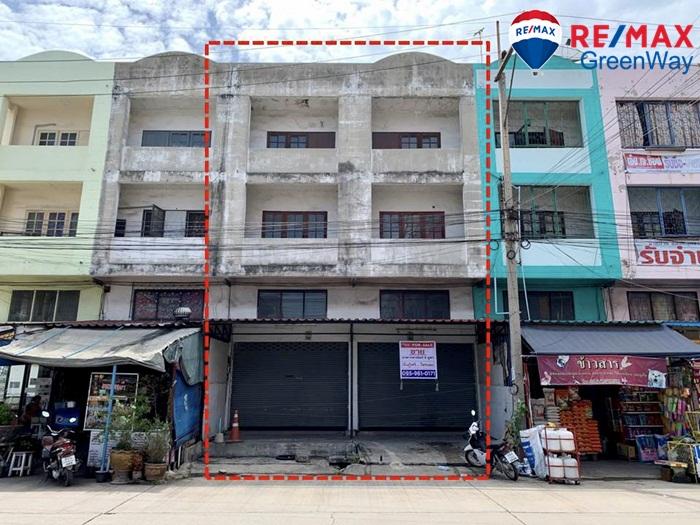 ขายอาคารพาณิชย์ 2 คูหา บ้านสวนเลขที่ 5 ถ.เศรษฐกิจ สมุทรสาคร  หน้าโครงการ เหมาะค้าขาย ทำหอพัก