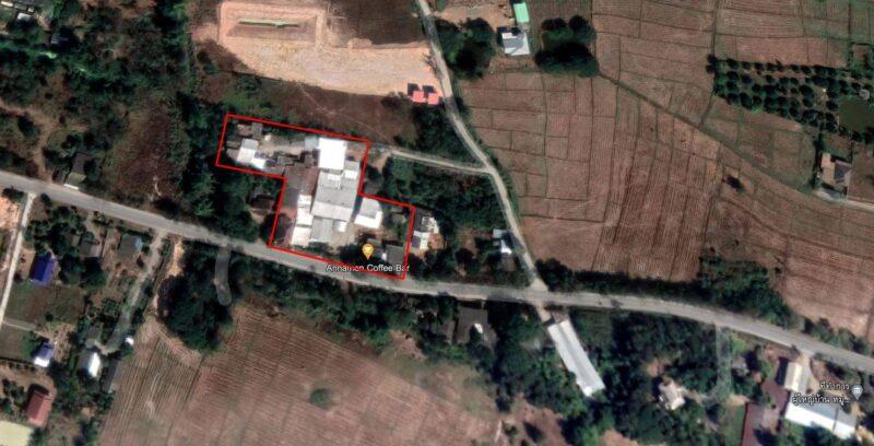 ขาย ที่ดินพร้อมสิ่งปลูกสร้าง (บ้าน, โกดัง, อาคารโรงงาน และร้านค้า)  15,000,000 บาท ( รับนายหน้าให้ 3% )