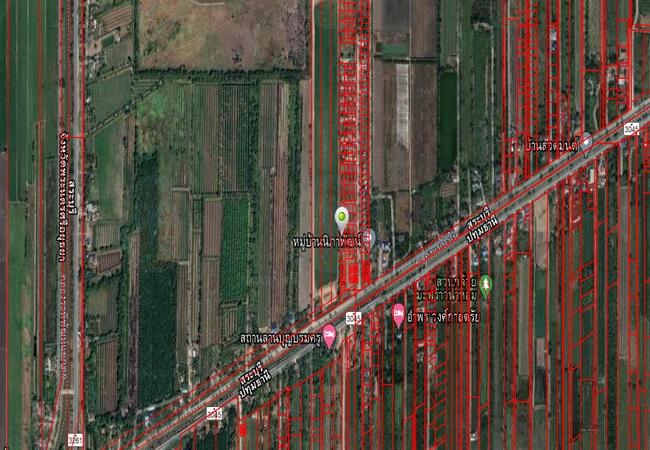 ขาย ที่ดิน ใกล้ตลาดสมบัติแม่ ถนนสระบุรี-ปทุมธานี อ.หนองแค จ.สระบุรี