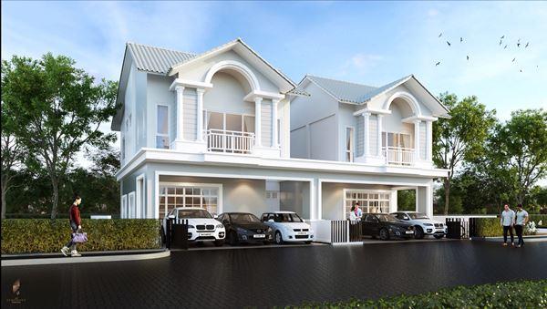 บ้านอิสระ & บ้านแฝด ระบบสมาร์ทโฮม ทำเลพิเศษในศรีราชา ฟังก์ชั่นเทียบบ้านเดี่ยว กว้างกว่า พื้นที่ใช้สอยมากกว่า
