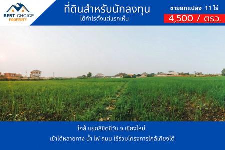 ขาย ที่ดิน บริเวณโดยรอบมีบ้านจัดสรร สันทรายหลวง 10 ไร่ 2 งาน 65 ตร.วา สามารถทำจัดสรรเพื่อพัฒนาได้เลย