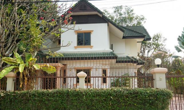 บ้านให้เช่า : บ้านเดี่ยวในโครงการใกล้ริมปิงมีโชคพลาซ่าถ. แม่โจ้