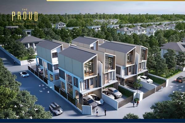 ขายบ้าน 3 ชั้น  เดอะ พราวด์ บางแสน ดีไซน์สุดโมเดิร์น ทำเลใจกลางเมือง ทำเลติดสุขุมวิท ใกล้บางแสน