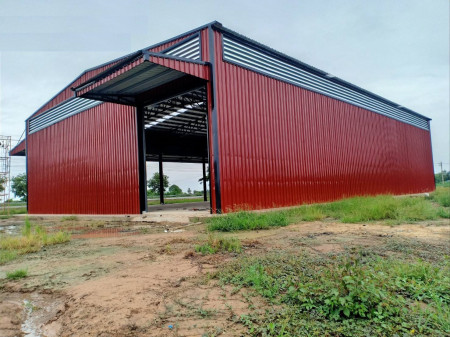 ขาย โกดัง  รับสร้างโกดัง คลังสินค้า โรงงาน ออกแบบประเมินราคาฟรี  600 ตรม. 1 ไร่ 0 งาน 0 ตร.วา