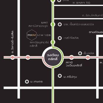 ขาย คอนโด เดินทางเข้า ออกเมืองสะดวก โมดิซ สเตชั่น คอนโดมิเนียม 27 ตรม. หน้าโครงการเกือบติดบันไดทางขึ้นรถไฟฟ้าสายสีเขียว