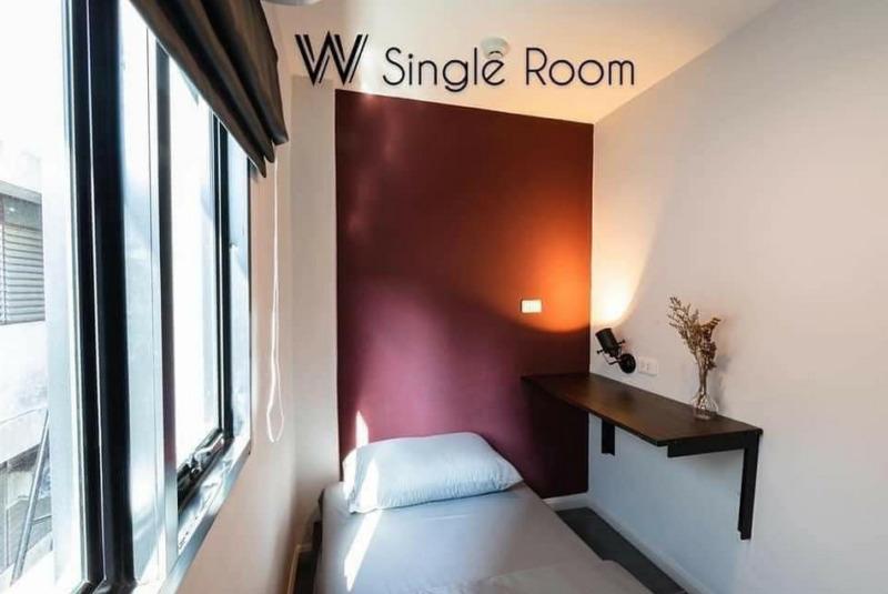 โฮสเทลพระโขนง ซอยสุขุมวิท 48 ใกล้ BTS พระโขนง Wire Bangkok Hotel and cafe Phrakanong