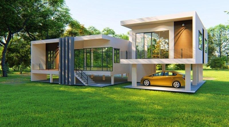 รับบริการ สร้างบ้านในแบบของคุณ บ้านใหม่ ปรับปรุงต่อเติม บ้านน็อคดาวน์ ดูหน้างานพร้อมออกแบบฟรี