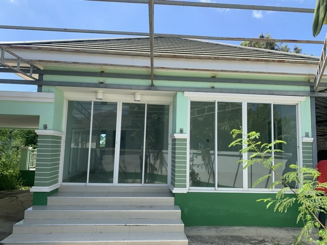 บ้านเดี่ยวชั้นเดียว แปลงริม หมู่บ้านแสนสบาย 3นอน 2น้ำ เมืองราชบุรี